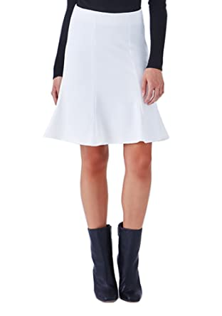 0e1f4fe7de Klarety Women's Ponte Fit & Flare Skirt - Off-White at Amazon ...