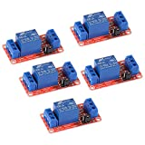 Anmbest 5PCS 5V 1 Channel Relay Module with Optocoupler High/Low Level Trigger for Arduino UNO R3 MEGA 2560 1280 DSP ARM PIC AVR STM32 Raspberry Pi