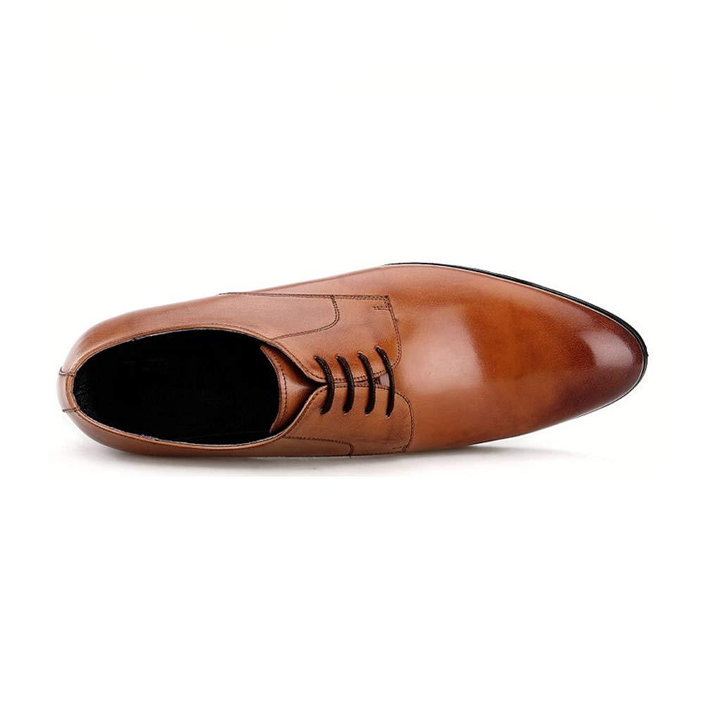 Männer Freizeit Formelle Kleidung Geschäft Lederschuhe Freizeit Männer England Spitze Einzelne Schuhe Bequem Kleid Lederschuhe Oxford Schuhe Braun 2cf2a9