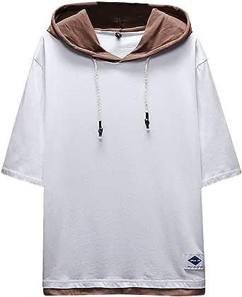 Tumblr - Camiseta con Capucha, Camisa Informal para Hombre, de Verano, Camiseta de Manga Corta con impresión Casual Bianco L: Amazon.es: Ropa y accesorios