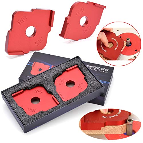 1Set Radius Quick-Jig Router Table Bit Corner Jig Templates with Box For Woodworking Tools Discount Portable Massage Table