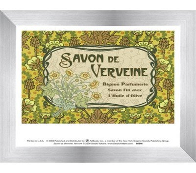 Savon de Verveine by Unknown – 8 x 7インチ – アートプリントポスター LE_854516-F9935-8x7 B01NGU5V83 Stainless Steel Wood Frame