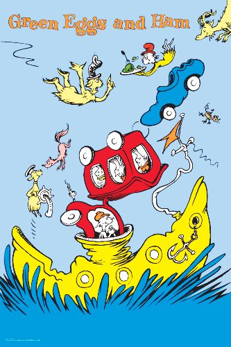 Green Eggs And Ham On A Boat 20 X 30 Poster Print