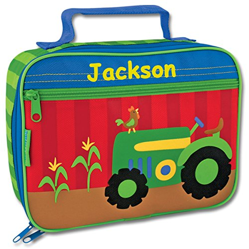 (Personalized Stephen Joseph Farm Tractor Themed Lunch Box With Name)
