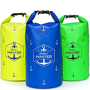 Dry Bag - 20L Floating Waterproof Bag for Boating, Kayaking, Sailing, Rafting, Stand Up Paddling, Canoeing, Camping by Outdoors MASTER