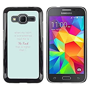LECELL--Funda protectora / Cubierta / Piel For Samsung Galaxy Core Prime SM-G360 -- Feelings Blue Pink Inspirational Text Love --