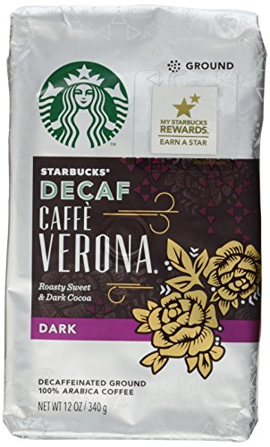 Starbucks Decaf Caffe Verona Coffee (Bold), Ground, 12-Ounce Bags (Pack of 2) ()