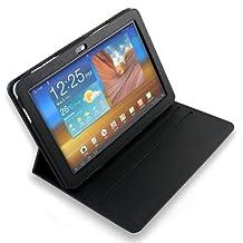 Etui DURAGADGET Luxe Noir, rotatif à 360° et support arrière rétractable pour tablette Samsung Galaxy Tab P7500 et P7510, 10,1 pouces