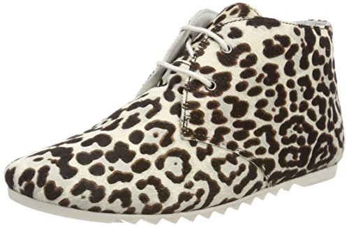 Leather Ginny White Maruti Zj6 Bottines Hairon Femme Cheetah Gris Black UE7wSqd