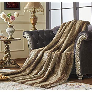 Amazon Com Best Home Fashion Faux Fur Throw Lounge