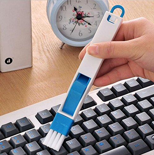 Cleaning Brush-Keyboard brush-Multi purpose brush-Mini Camera brush Cleaner - Keyboard Sweeper with Built-in spatula-keyboard cleaner brush (blue) -