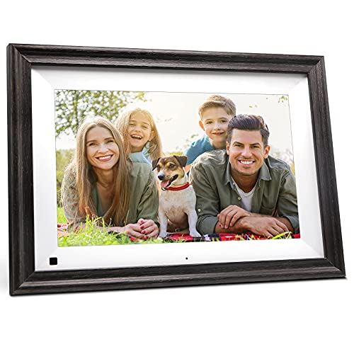 SAMMIX Digital Picture Frame WiFi 10.1 inch Digital Photo Frame IPS Touch Screen, 16GB Storage, Auto-Rotate, Motion Sensor, Share Photos via App, Email