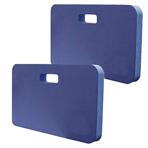 Premium Heavy Duty Kneeling Pad for Gardening, Baby Bath, Floor Cleaning, Praying and Wide Use Kneeler Cushion-Knee Mat for Exercise & Yoga- Extra Large (18 x 11 Inch),1.5 Inch Thick,Blue,(Pack of 2) by Dimple