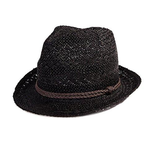 Ktyx Coreana Negro Lo De Del A Sol Largo Grande Paja Occidental Visera Sombrero Versión Vaquero Veran Marea Masculino Verano Playa La Pescador qOXOwr1