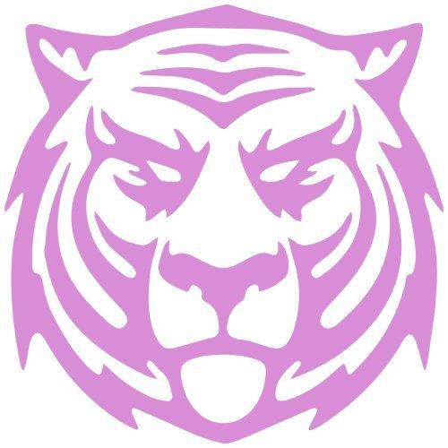 (Thunder Cat Tiger Decal Sticker (pink, mirrored), Decal Sticker Vinyl Car Home Truck Window Laptop)