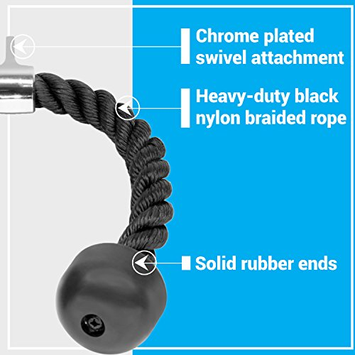 A2ZCARE Tricep V Shaped Press Down Bar (Tricep Rope) by A2ZCARE (Image #4)