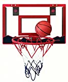 Speedy Mini Basketball Hoop with 18' x 12' Shatterproof Backboard and Double Spring Breakaway Rim (Red - without Counter)