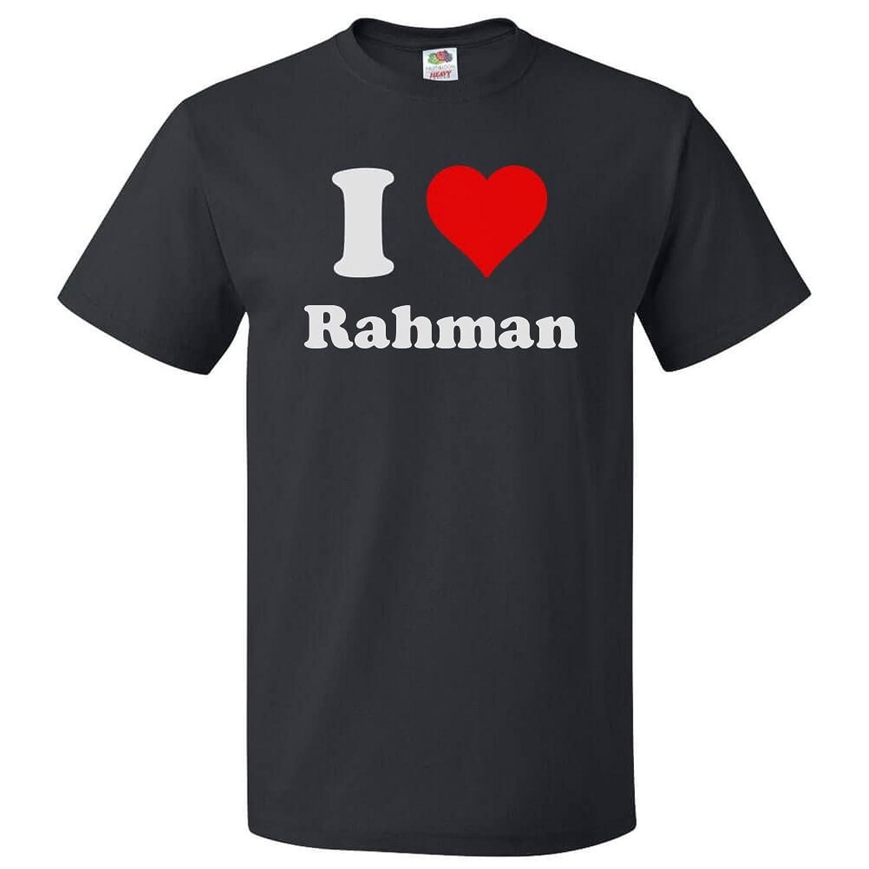 Amazon.com: ShirtScope I Love Rahman T shirt I Heart Rahman Tee ...