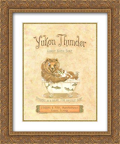 (Yukon Thunder 2X Matted 15x18 Gold Ornate Framed Art Print by Kathy Jennings)