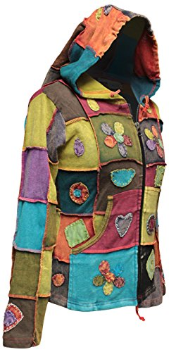 HIPPIE PEACE shopoholic Fashion LOVE veste Femme PATCHWORK tXwqZ7w