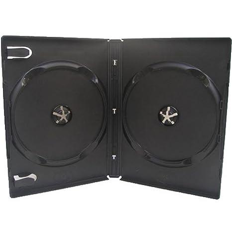 Four Square Media - Caja doble para 2 CD, DVD o Blu-ray (14 mm, 1 unidad), color negro: Amazon.es: Informática