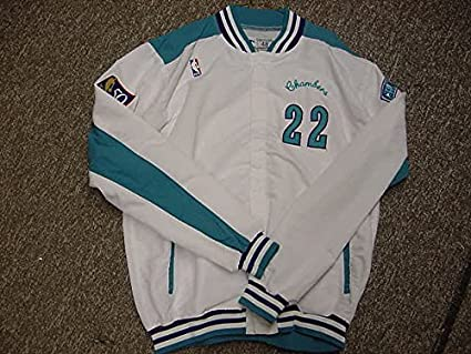 big sale 2deae fc604 Tom Chambers Charlotte Hornets Game Worn Jacket at Amazon's ...