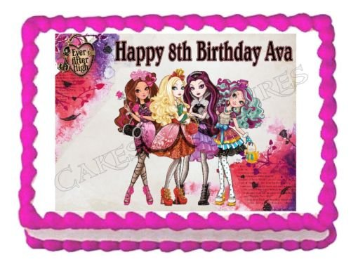 EVER AFTER HIGH edible party cake topper decoration cake image frosting sheet