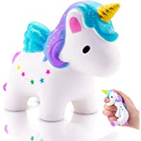 Squishy Unicornio,Squishys Kawaii Slow Rising Para Niños Y Adultos Squishys Kawaii No Tóxico Juguetes Antiestres Squeeze Toy Regalo de Navidad Antiestres Squishy (squishy unicornio)