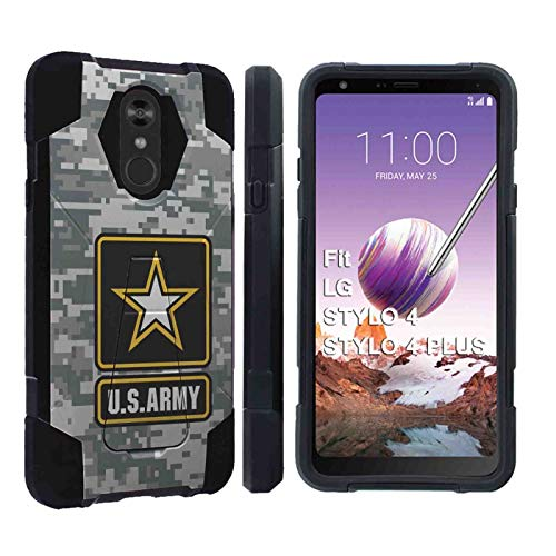 [Armor Xtreme] LG Stylo 4 / Stylo 4 Plus [Black] Total Defender [Kickstand] Case Feature Dual-Layer Hybrid w/Kickstand for LG Stylo 4, LG Stylo 4 Plus [US Army Camo Print] (Us Army Iphone 4 Case)
