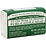 ((1 Pack)) - Dr Bronner All-One Hemp Almond Pure-Castile Soap Bar 140g