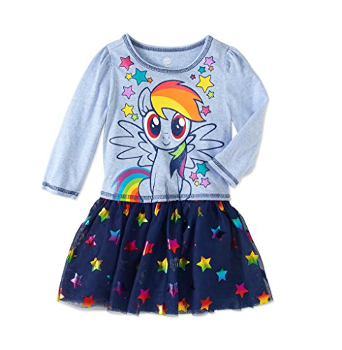 HIS international Toddler Girls My Little Pony I am Star Dress With Tutu Skirt (4T)