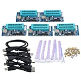 BQLZR Mini PIC Microcontroller USB Automatic Programming Programmer K150 + ICSP Cable Pack of 5