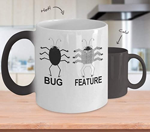 Bug Versus Feature - 11-oz Color Morphing Code Software Tech