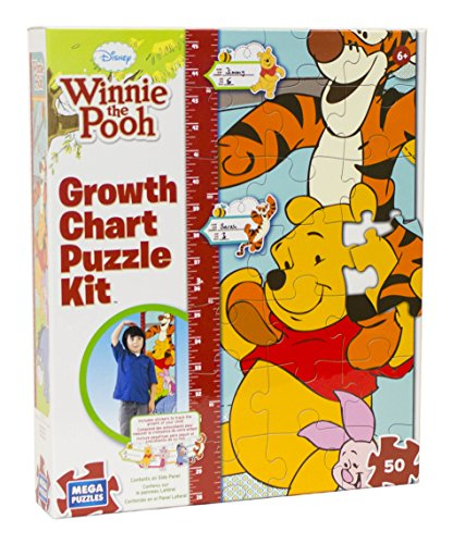 Pooh Wallpaper - Disney Winnie the Pooh Growth Chart Puzzle Kit by Mega Puzzles