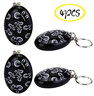 WER 120dB Loud Emergency Personal Alarm Keychain SOS Keyring for Kids, Students, Women, Girls,Elderly, Adventurer,Night Workers Self Defense/Protection Electronic Device Bag Decoration(4 PCS)