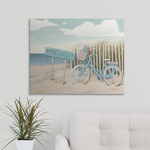 """James Wiens Premium Thick-Wrap Canvas Wall Art Print entitled Beach Cruiser II Crop 30\""""x24\"""""""