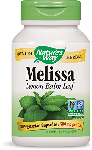Nature's Way Melissa Lemon Balm, 500mg, 100 Capsules (Pack of 2)