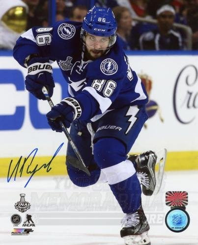 Nikita Kucherov Tampa Bay Lightning Signed Autographed Cup Finals Action 8x10