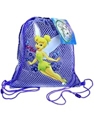 Small Purple Tinkerbell Drawstring Backpack - Tinkerbell Drawstring Bag