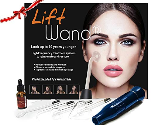 Lift Wand 2.0 High Frequency Premium Anti Aging device, Eliminates Wrinkles, Skin Tightening, Acne, Dark Circles, Blemish Remover