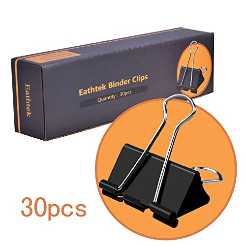 Black Binder Clips,Extra Large,2 Inch (30-Pack), Binder