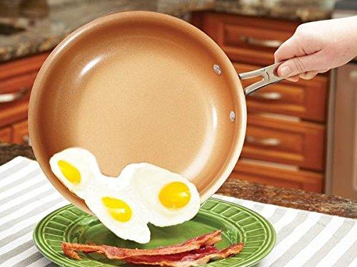 Original Copper Pan Round Nonstick Fry Pan, 12'', Copper by Original Copper Pan (Image #3)