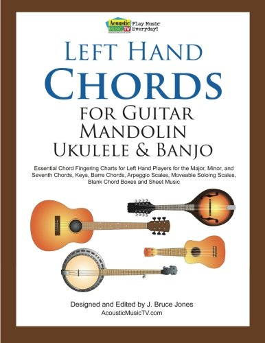 Left Hand Chords for Guitar, Mandolin, Ukulele and Banjo by J. Bruce Jones