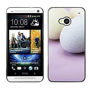 TopCaseStore / la caja del caucho duro de la cubierta de protección de la piel - Easter Holidays Pink - HTC One M7