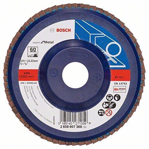 2 opinioni per Bosch 2608607366- Disco abrasivo 125 Mm, 22,23 Mm, 60, U/min, confezione da 1
