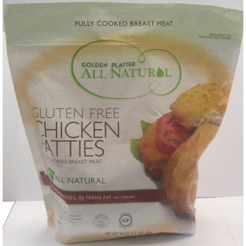 Gluten Free Chicken Breast Patties Frozen - 24 oz (Pack of 8)