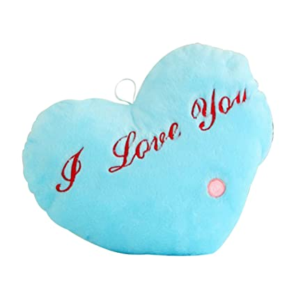 Amazon.com: Lightclub LED Light Plush Cute Love Heart Pillow ...
