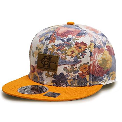 City Hunter Cf2081 Water Flower Snapback Caps - - Hats Flower Snapback