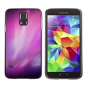 [Neutron-Star] Snap-on Series Teléfono Carcasa Funda Case Caso para Samsung Galaxy S5 [Aurora Borealis Purple Estrellas del cielo nocturno]