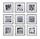 Hang Your Own Gallery Square 9-Piece Frame Set, Black